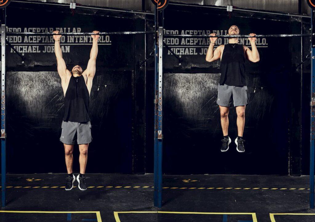 Las dominadas se enfocan primordialmente en los músculos dorsales.