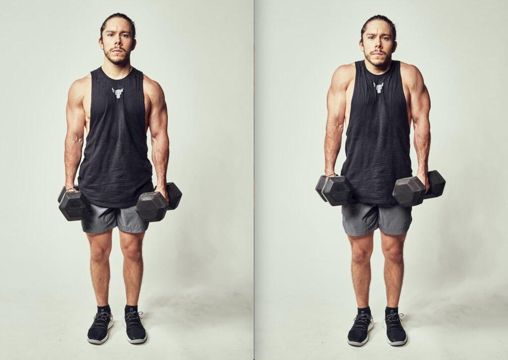 Realizar encogimiento de hombros fortalece los trapecios.
